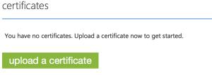 Upload a certificate